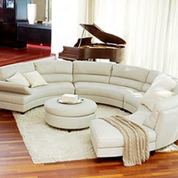 Franchesca Leather Sectional Living Room From Macys Home