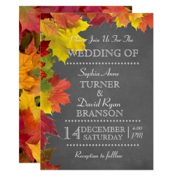Romantic Fall Music Sheet Wedding Invitation