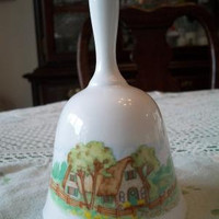 Porcelain Cottage Bell Love Makes A House A Home Helen Steiner Rice