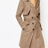 ASOS Trench in Suedette at asos.com