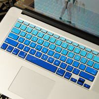 Blue gradient-decal macbook Decal for MacBook keyboard decal MacBook air sticker MacBook pro decal