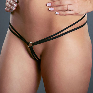 Double Strap Micro G-String with Ring