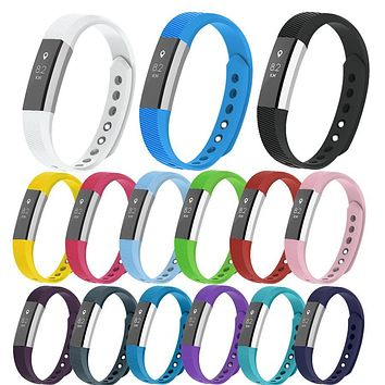 High Quality Durable Silicone Replacement Bands Straps for Fitbit Alta HR Wristband Adjustable Strap with Secure S/L Size