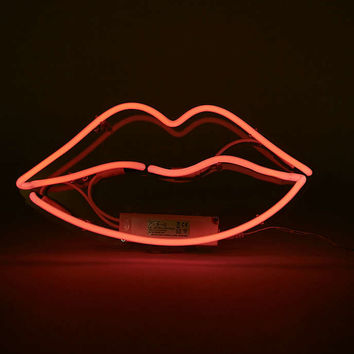 Pink Neon Lips Light - Urban Outfitters from Urban Outfitters