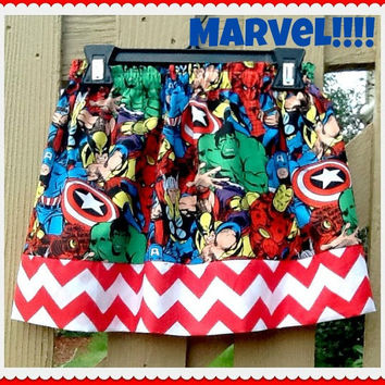 Girls Marvel skirt Comics Super Hero Spider man Hulk Wolverine Captain America skirt 12m 18m 2t 3t 4t 5t 6X 7 8 9 10 ready to ship