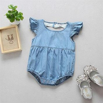 Newborn Infant Baby Girls Romper Hollow love Jumpsuit Clothes Outfits