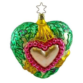 Inge Glas Brigets Heart Of Hope Glass Ornament