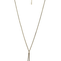FOREVER 21 Triangle Pendant Drop Necklace Burnished Gold One