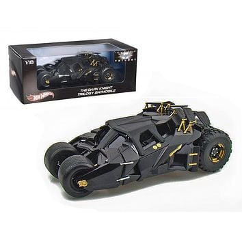 "\The Dark Knight"" Trilogy Movie Batmobile Tumbler 1/18 Diecast Model Car by Hotwheels"""