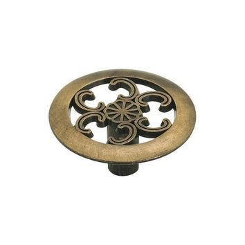 Amerock Allison Value Contemporary Antique Brass Round Cabinet Knob