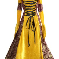 Atomic Gold and Maroon Renaissance Costume