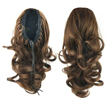 Soowee Brown Black Curly Synthetic Hair Ponytails My Little Pony Tail Clip In Hair Extension False Hair Bun Hairpiece Fairy Tail