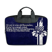 LaHuo Harry Potter Ravenclaw Academy Sorting Hat's Song 15.6-Inch Laptop Bag