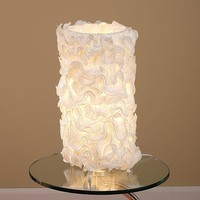Lace Table Lamp Cream
