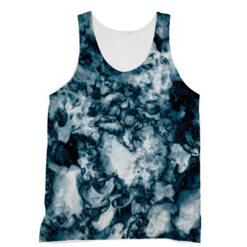 Black and White Swirling Smoke American Apparel Sublimation Vest