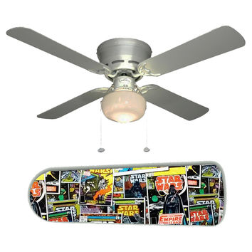"Star Wars Comic Books 42"" Ceiling Fan and Lamp"