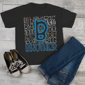 Boy's Big Brother T Shirt Typography Tee Matching Sibling Shirts Cute Tees Baby Announcement Shirt