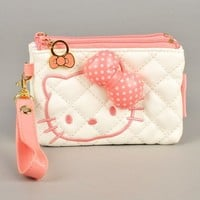Hello Kitty Wallet Change Coin Purse Strap White