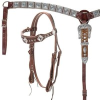 Big Bling Headstal & Breastcollar Set - Show Tack - Western - Tack