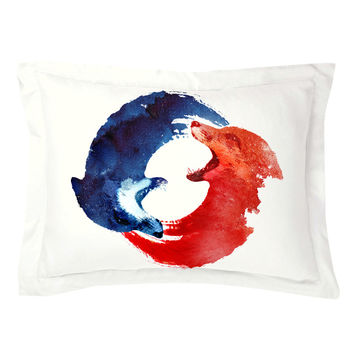 Ying Yang Pillow Shams