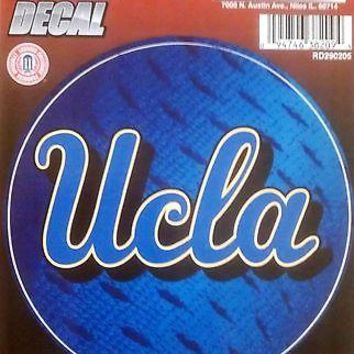 "UCLA Bruins 4"" Round Decal Bumper Sticker Basketball Football University of"