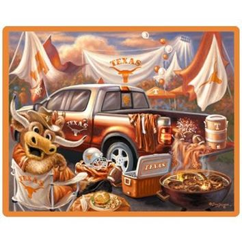 Texas Longhorns Tailgate Print 48'' x 60'' Fleece Blanket