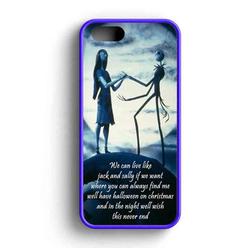 Jack Skeleton And Sally Love Quotes iPhone 5 Case iPhone 5s Case iPhone 5c Case