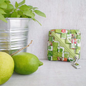Coin Wallet Made With Recycled Packaging Material | Candy Wrapper Technique | Green Change Purse | Eco Friendly Wallet