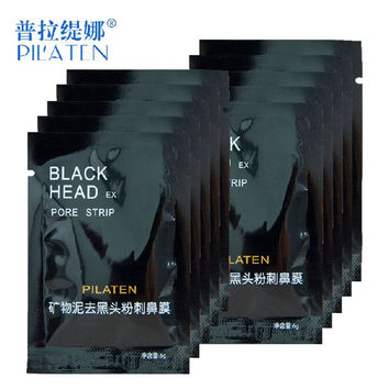 10pcs/lot Face Care PILATEN Nose Facial Blackhead Remover Mask Pore Cleanser Black Head EX Pore Strip Face Mask Acne Treatment