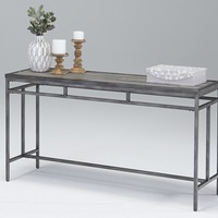 Aurora Contemporary Sofa/Console Table Sky Tile