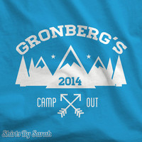Kids Personalized Camping T-Shirt - Family Name Camp Out TShirts Year Camper Camp Custom Youth Boys Girls
