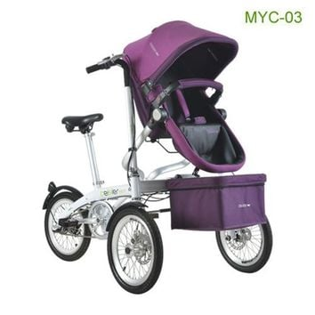 High Quality Baby Stroller Mother & Kids Bike Strollers Newbore Three Wheel Pushchair Kids Travel Foldable Bicycle Tricycle