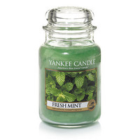 Fresh Mint : Large Jar Candles : Yankee Candle