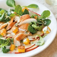Smoked Trout and Apple Salad with Polenta Croutons | Williams-Sonoma
