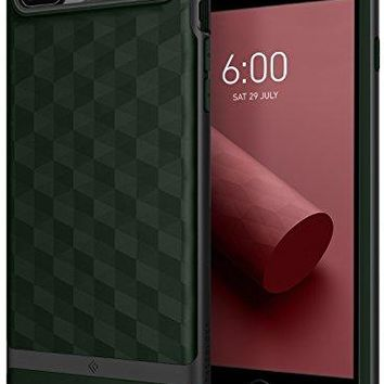 iPhone 8 Plus Case / iPhone 7 Plus Case Caseology [Parallax Series] Slim Protective Dual Layer Cover Geometric Design for Apple iPhone 8 Plus (2017) / iPhone 7 Plus (2016) - Pine Green