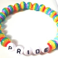 Gay Pride Bracelets - Rainbow Couple Bracelets - Pride Bracelet Set - Beaded Pride Bracelets - Rainbow Braclets - Pride In Jewelry