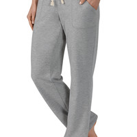 Tie Waist Two Pocket Sweatpant - Gray
