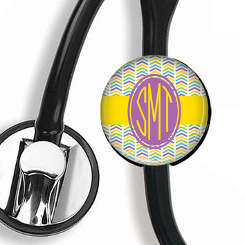 Personalized Stethoscope ID Tag, Tribal Arrows