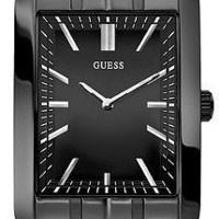 Guess U12660G1 black dial ion-plated stainless steel bracelet men watch NEW