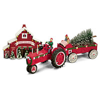 75th Anniversary Farmall Figurines With Free Tree Stop