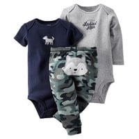 3-Piece Bodysuit & Pant Set