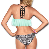 Ladder-back Flounce Top
