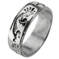 Kokopelli Ring Band