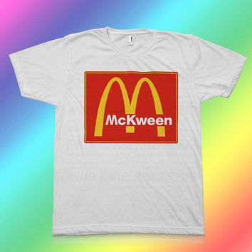McKween - McDonalds Parody  - 100% Polyester Unisex T-Shirt - Sizes: Medium, Large