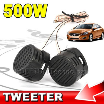 High Efficiency Dome Pitch Mine 500W Universal Super Power Loud Speaker Tweeter Loudspeaker Audio Auto Sound Klaxon Tone For Car