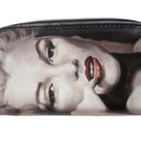 Marilyn Monroe Sex Symbol Star Rare Coin Change Lipstick Cosmetic Zip Around Bag