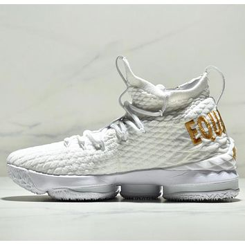 NIKE LEBRON XV 15 EP Fashion New Sports Leisure Running High Quality Shoes Men White
