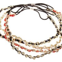 L. Erickson Gold Chain with Patent Headwrap - Sale $7.90! Originally $22.00