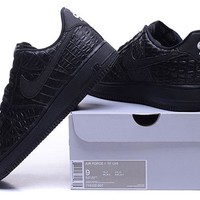 Nike Air Force 1 718152 Black For Women Men Running Sport Casual Shoes Sneakers