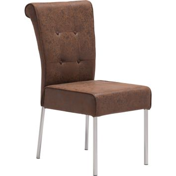 Ringo Dining Chair Distressed Brown (Set of 2)